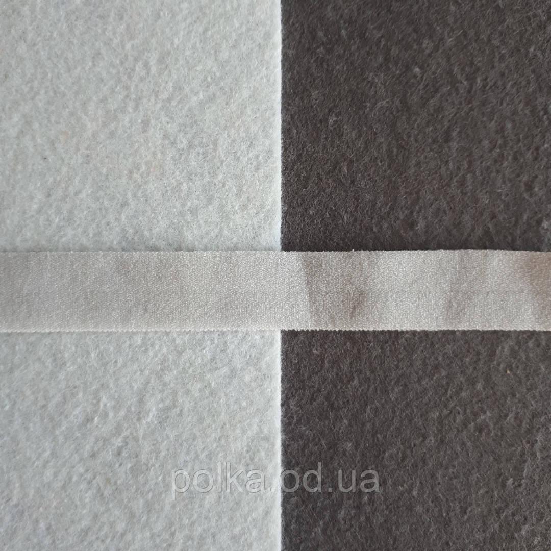 Резинка окантовочная матовая, ширина 15мм, цвет серый светлый (Турция)