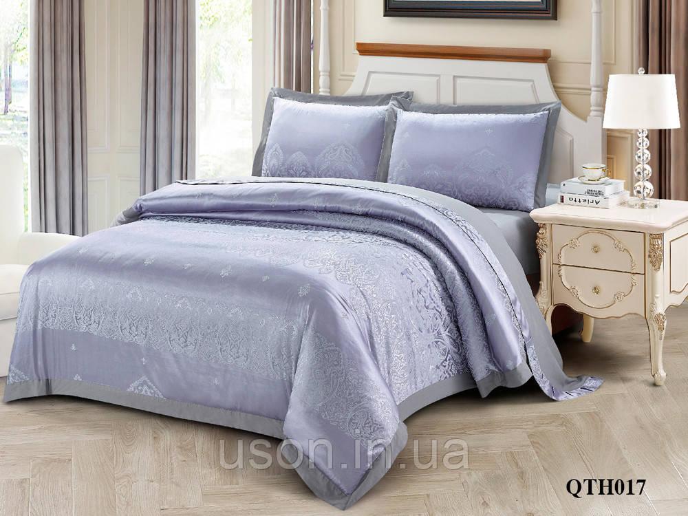 Комплект постельного белья из жаккарда однотонного ТМ Love you 2-53