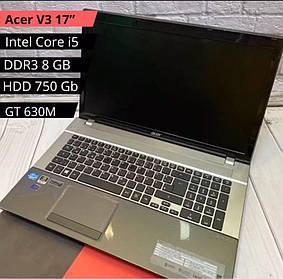 ИГРОВОЙ НОУТБУК Acer V3 17(i5-3210m / DDR3 8GB / HDD 750GB / GT 630M)