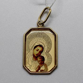 Золотая подвеска-ладанка (золото 585)