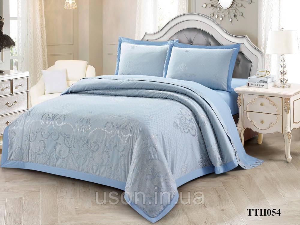 Комплект постельного белья из жаккарда однотонного ТМ Love you 2-54