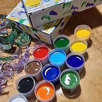 Набор универсальных художественных акриловых красок 12 глянцевых цветов по 20 мл.