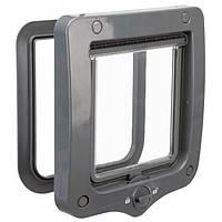 Двери 2-Way Flap двухсторонние серые для котов  20х22cм