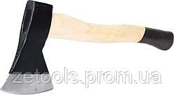 Сокира з дерев'яною ручкою hickory 600гр Miol 33-075