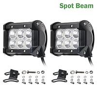 Автофара LED на крышу 6 LED 5D-18W-SPOT 95х70х80 | Светодиодная фара на 6 лампочек ближнего света, фото 1