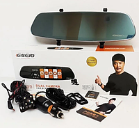 Автомобильный видеорегистратор зеркало A99 с 2 камерами, фото 1