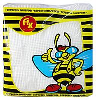 Салфетки бумажные Астерикс Белые - 60 шт. в упаковке (в спайке - 10 упаковок)