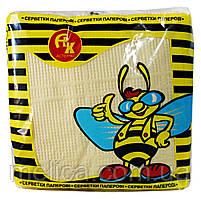 Салфетки бумажные Астерикс Цветные - 60 шт. в упаковке (в спайке - 10 упаковок)