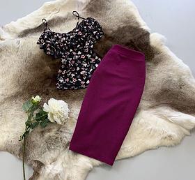Костюм юбочный с блузой с рюшами BRТ1617