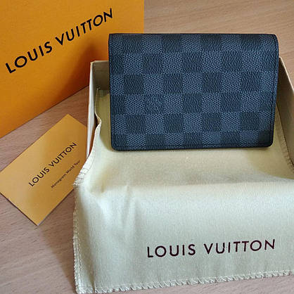 Обложка для паспорта  Louis Vuitton в коробке, кожа, фото 2