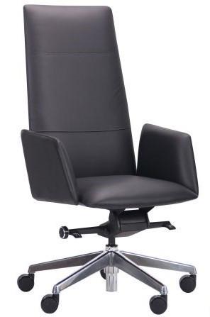 Кресло кожаное Никколо НВ черный