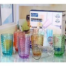Набор стаканов  6шт конических 200мл цв. стекло CHN/CM8070/158