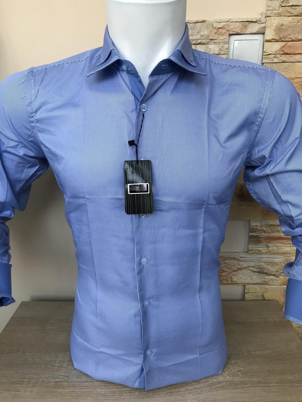 Сорочка з довгим рукавом Franko Manutti в смужку