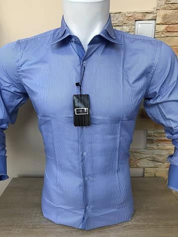 Сорочка з довгим рукавом Franko Manutti в смужку, фото 2