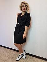 Черное платье-рубашка прямого силуэта MAC Park