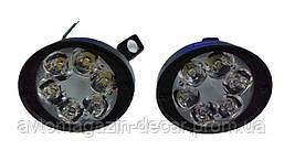 Фара-LED  Овал  10W (1.5W*6) 10-60V  65*50*35mm  Дальний/Spot 104-10W (2шт)