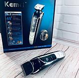 Профессиональная машинка для стрижки Kemei LFQ KM 1832 с насадками, фото 3