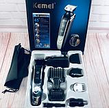 Профессиональная машинка для стрижки Kemei LFQ KM 1832 с насадками, фото 4