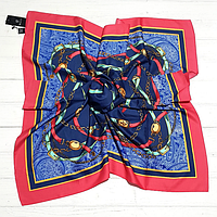 Шелковый платок Fashion Паула 90*90 см синий