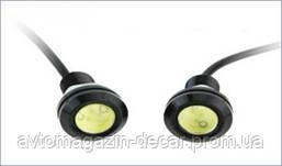 DRL Глазки-линзы врезные LED D=23мм 1.5W 24V (2525) (2шт)