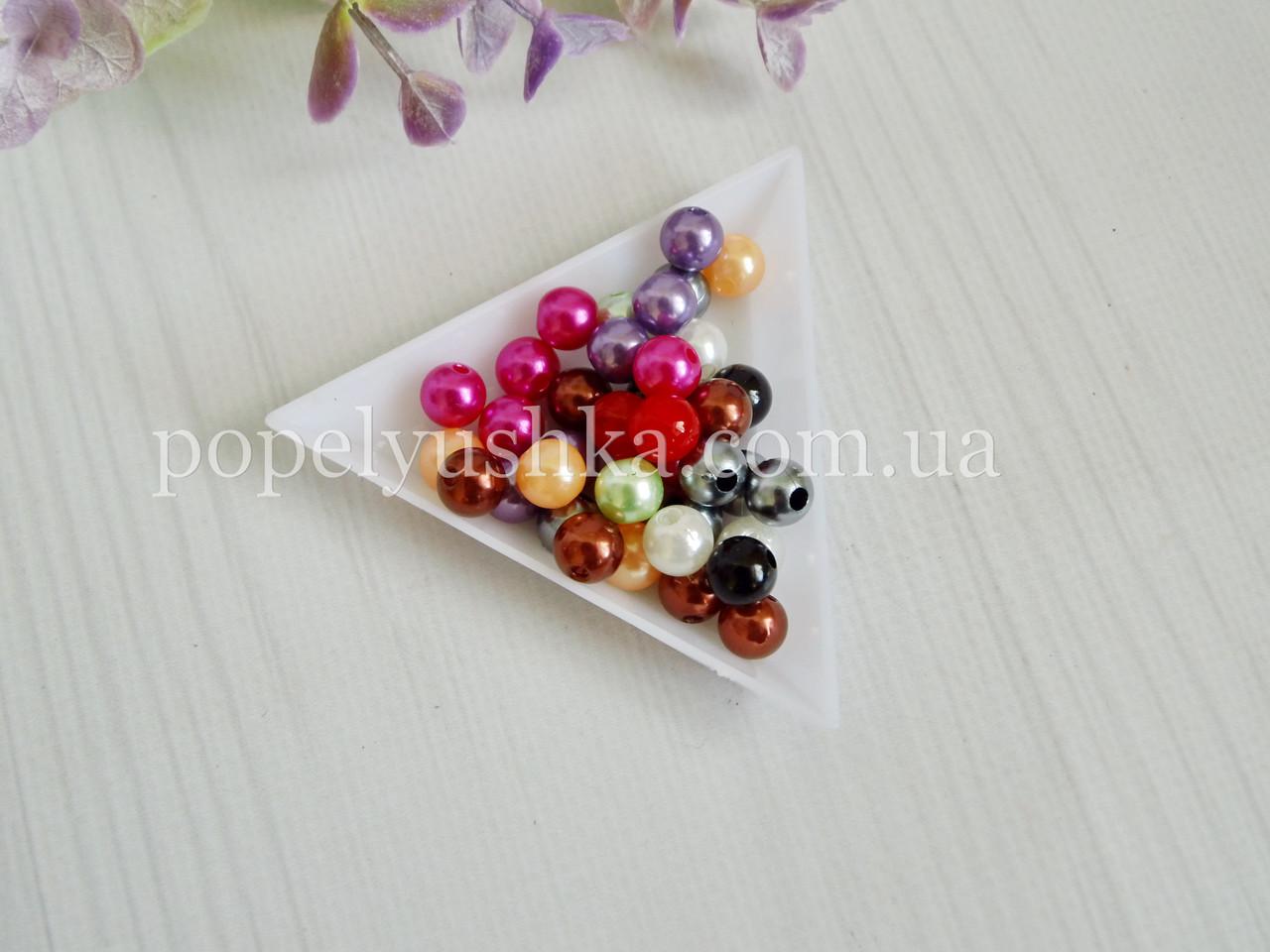 Перлини скляні 4 мм мікс (50 шт.)