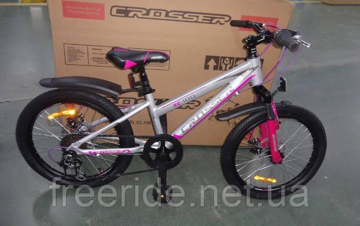 """Детский спортивный Велосипед Crosser Girl 20"""" XC-100"""