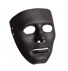 Маска карнавальная безликий черная (192302)