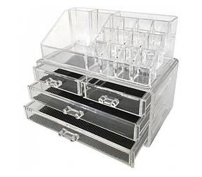 Органайзер-бокс Cosmetic Storage Box для косметики акриловый Прозрачный (556201)