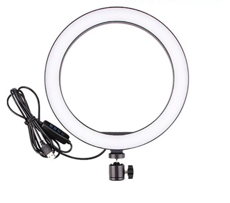 Селфи кольцо Ring Light светодиодное USB 5600 К (556201)