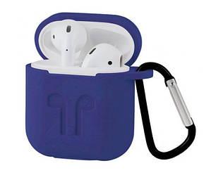 Чехол для наушников AirPods BL Silicone case силиконовый Blue (062003)