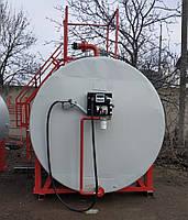 Мобильный топливный модуль, цилиндрический резервуар на 5 000 литров, после капитального ремонта