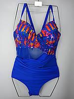 Слитный купальник с сеткой  Z.Five 75907 ярко-синий на 52 54 56 58 60 размер