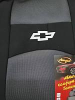 """Чехлы мод.Chevrolet Laccetti / Gentra SD-Combi 04-  Черно-Серый """"АвтоСвiт"""" - с подголовниками"""