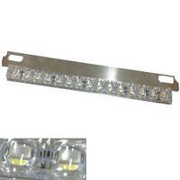 Подсветка номера со стопом 12V LED бел/красн (с крепежем)  245мм линзы (30-1) 2534