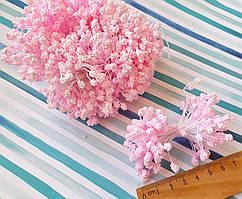(≈1800шт) Тычинки-шишечки на нитке, 900шт двухсторонних ниток, головка ≈5х3мм Цвет - Розовый нежный