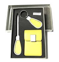 Фирменный подарочный набор, для автомобилиста, визитница и нож стильный подарок для мужчин и женщин (GA-029)
