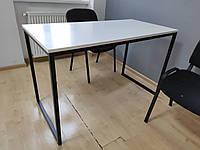 Стіл в стилі Лофт Метал та ДСП Swisskrono білий 1200х600