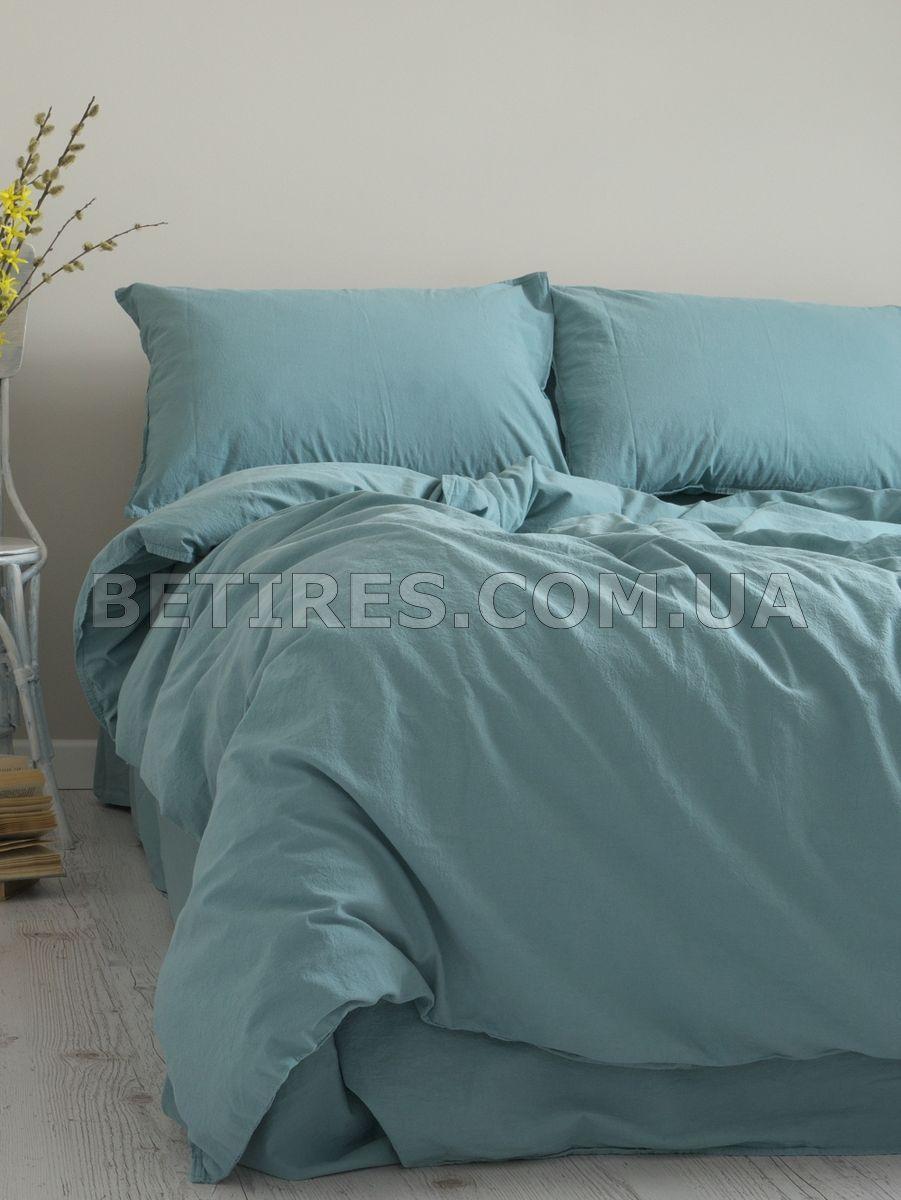 Комплект постельного белья СЕМЕЙНЫЙ LIMASSO MINERAL BLUE STANDART голубой