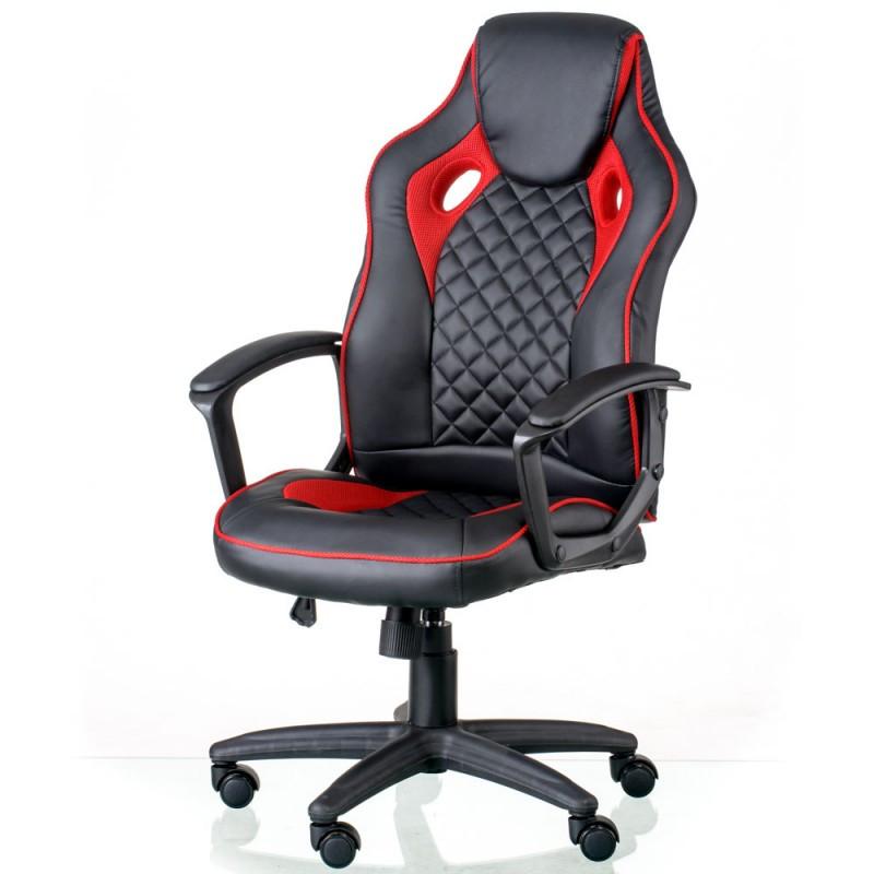 Крісло офісне Special4You Mezzo black/red (E5593)