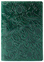 Кожаная Обложка Для На Паспорта для на Документы Женская Мужская , обкладинка на для паспорт 015 Зеленый