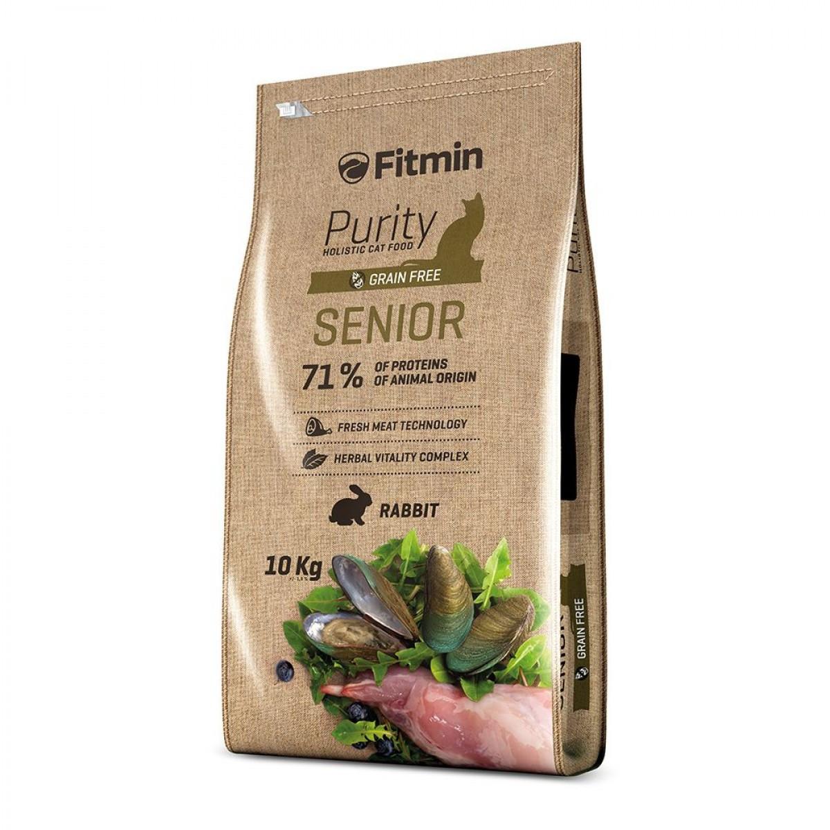 Fitmin Purity Senior 10 кг. Корм для пожилых кошек (старше 8 лет)