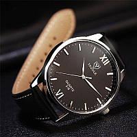 """Мужские классические наручные часы """"Yazole Classic"""" c черным ремешком, фото 1"""