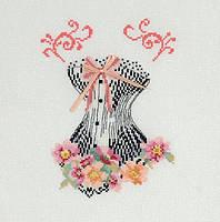 Набор для вышивания ДМС Корсет с розовой лентой BK1471