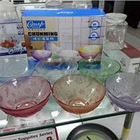 Набор салатников цвет.стекло 6шт 290мл CHN-CHN / 6317