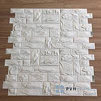 Пластиковая Панель РЕГУЛ Пиленый Настоящий Белый 977*493 мм
