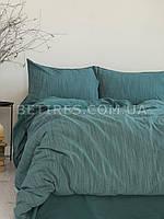 Комплект постельного белья 200x220 LIMASSO MOZAIK DARK GREEN зеленый