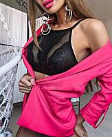 Красивое женское белье, холтер-бра+ трусики , 85В/С черный цвет