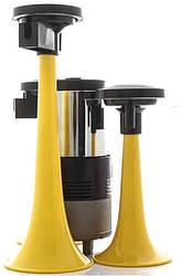 Сигнал дудка з компресором 2 шт жовтий 165 215 мм 12 V