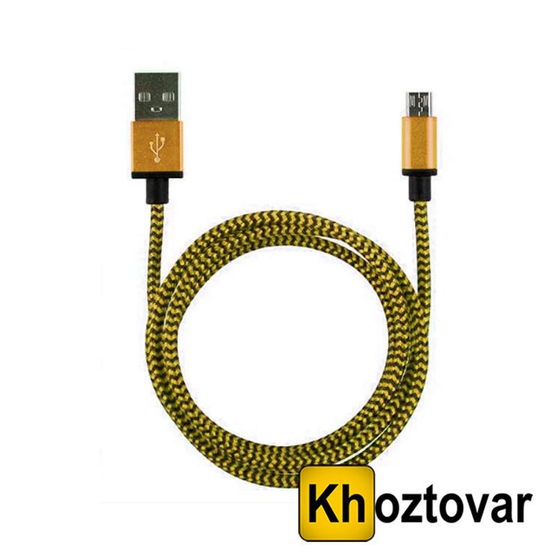 Кабель USB Micro ткань Gold 2A | 1.5 м