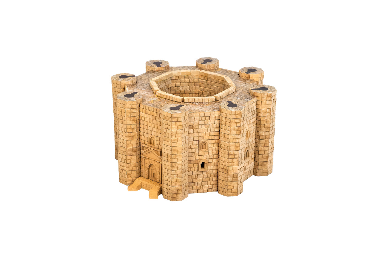 Кастель-дель-Монте керамический конструктор | 1500 деталей | Країна замків та фортець (Україна)